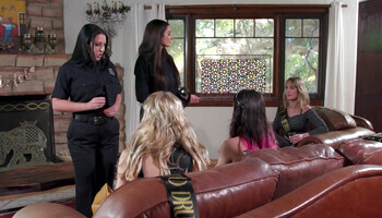 Lesbian orgy with sexy strippers and horny bridesmaids