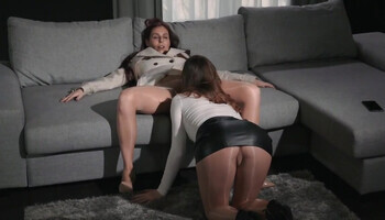 Nighttime lesbian fuck scene with genuinely stunning queer beauties