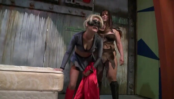 Porn spoof video with horny chicks in funny costumes
