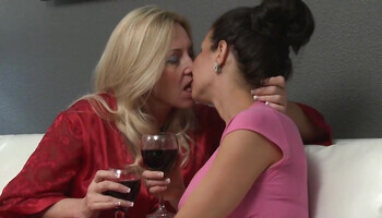 Wine moms finally decide to enjoy some girl-on-girl action
