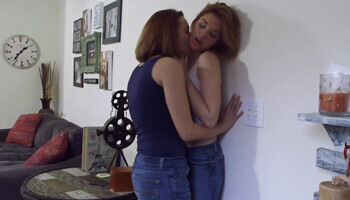 Lots and lots of passionate dry-humping in a lesbo porn video